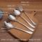 不锈钢勺子汤勺家用长柄勺创意西餐叉儿童学生汤匙圆勺调羹小勺子