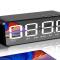 蓝牙音箱闹钟无线手机电脑家用超重低音炮迷你大音量3D环绕小音响新款便携式小型可爱时钟影响